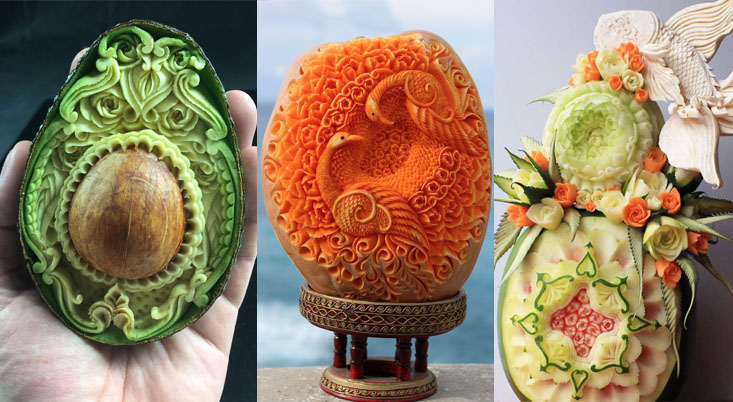 Incredible food carving that is too beautiful eat